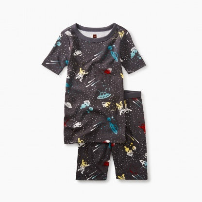 Tea Collection Short Sleeve Pajamas - Outer Space - Precious + Posh