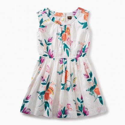 Tea Collection, Peach Flower Dress - Precious + Posh
