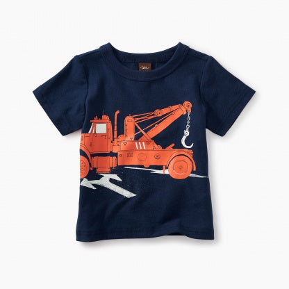 Tea Collection, Tow Truck Graphic Baby Tee  - Precious + Posh