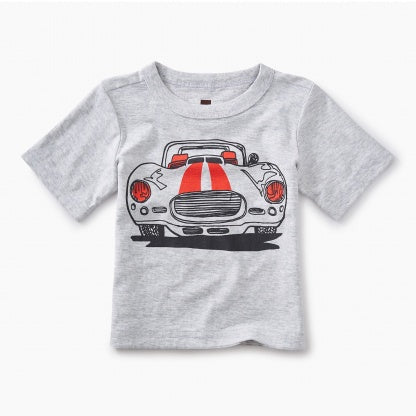 Tea Collection, Muscle Car Graphic Baby Tee - Precious + Posh
