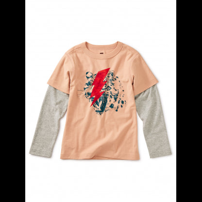 Tea Collection - Leopard Flash Graphic Layered Tee - Precious + Posh