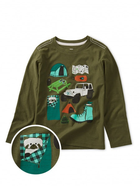 Tea Collection - Camp Collage Graphic Tee - Precious + Posh