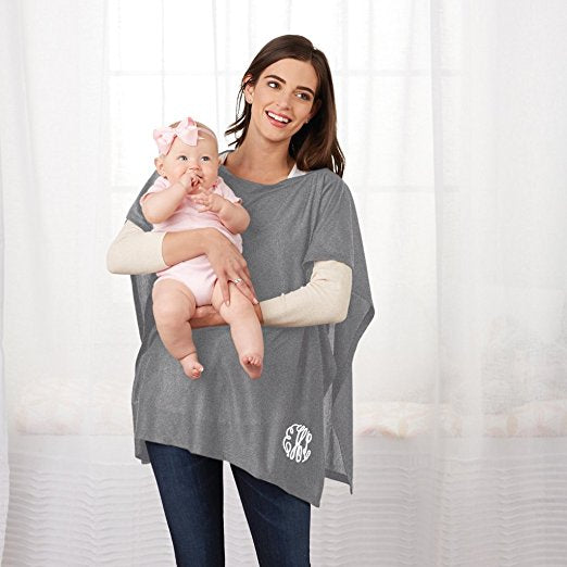 Mud Pie Nursing Poncho Gray