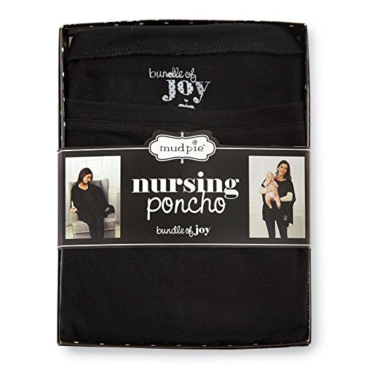 Mud Pie Nursing Poncho Black