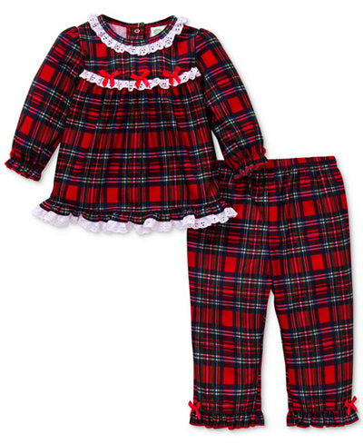 Baby Girl Red Plaid Sleepwear Set - Precious + Posh