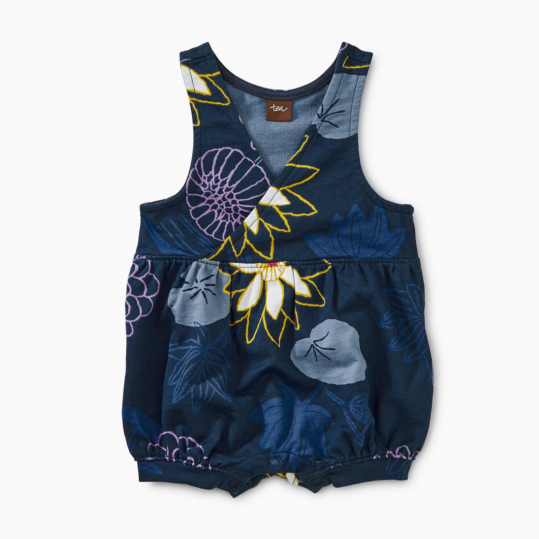 Tea Collection Printed Shortall Lilypad Tulips