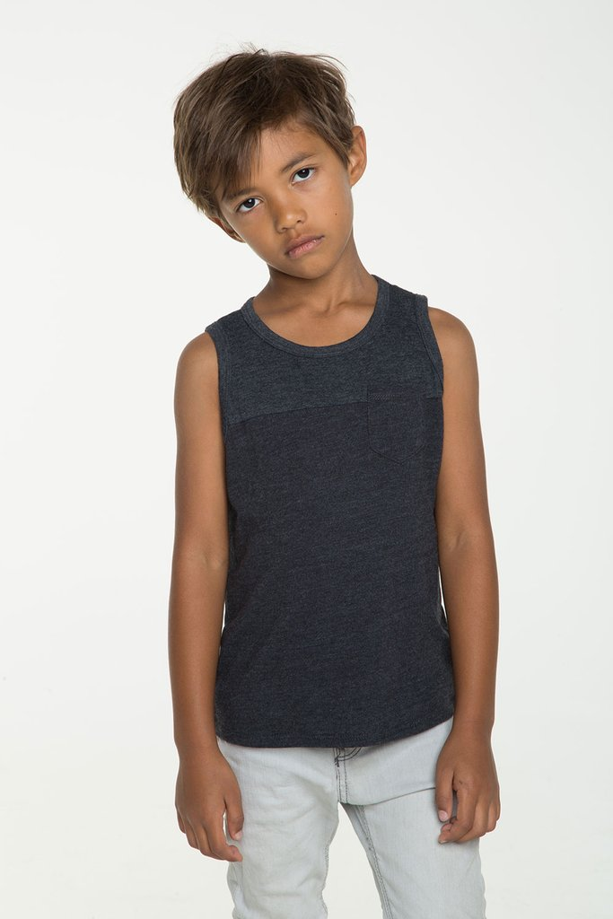 Boys Block Muscle Tank with Pocket - More Colors Available - Precious + Posh