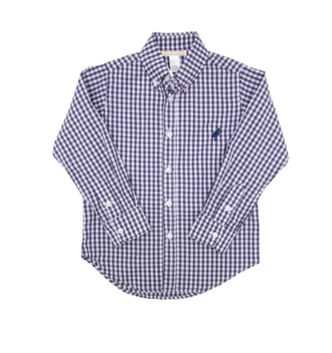 Beaufort Bonnet Company Deans List Dress Shirt Nantucket Navy