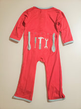 Load image into Gallery viewer, Kickee Pants Applique Coverall with Zipper Flag Red Tools