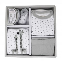 Load image into Gallery viewer, Necessities by Tendertyme Box Infant Set Giraffe Gray/White