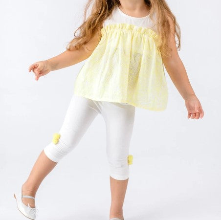 Doe a Dear Lemonade Ruffle Top w/Ankle Length Leggings