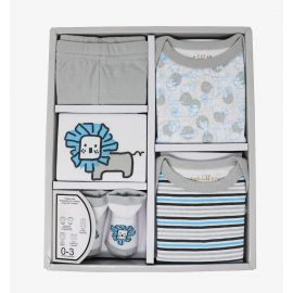 Necessities by Tendertyme Box Infant Set Lion Blue/White