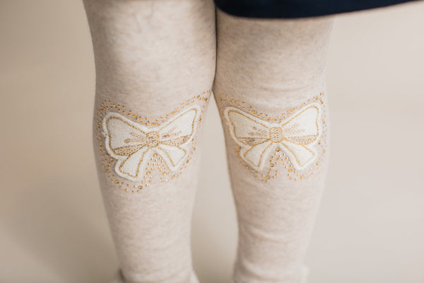 Bow Knee Patch Leggings - Precious + Posh