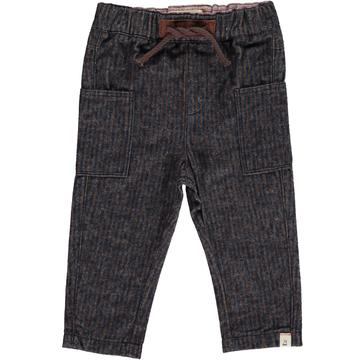 Me & Henry Navy/Brown Woven Pants