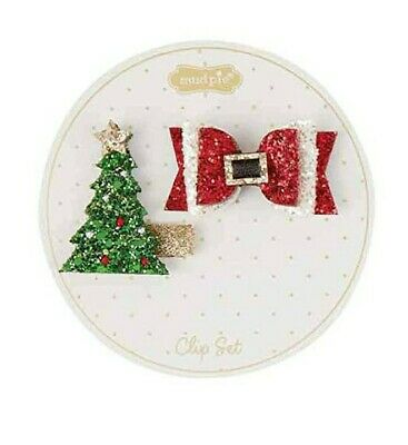 Mud Pie Santa Belt and Tree Clip Set
