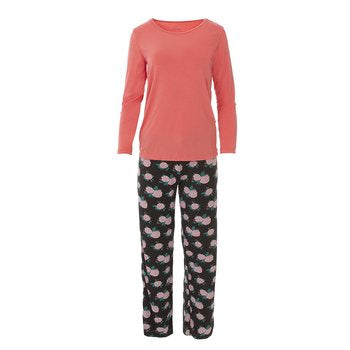 Kickee Pants Print Long Sleeve Pajama Set - More Colors Available
