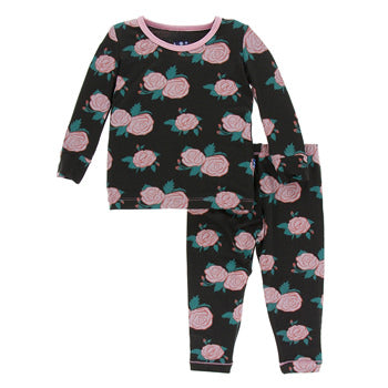 Kickee Pants Print Long Sleeve Pajama Set - Precious + Posh
