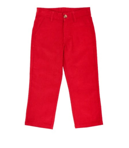 Beaufort Bonnet Company Prep School Pants Richmond Red w/ Nantucket Navy Stork