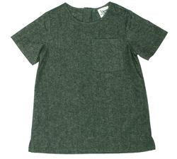 Young & Free Ry Tunic Dress Forest Green - Precious + Posh
