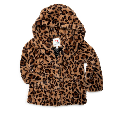 Appaman Cleo Faux Fur Coat Leopard