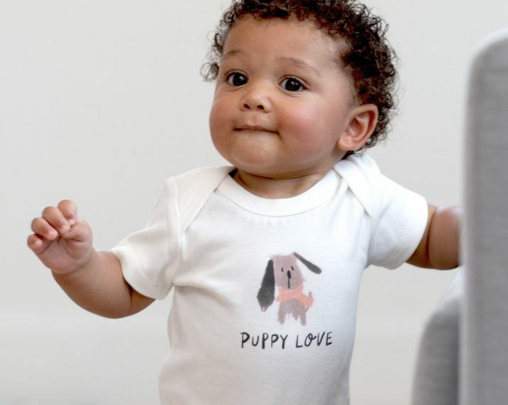 Finn + Emma Puppy Love Lap Bodysuit