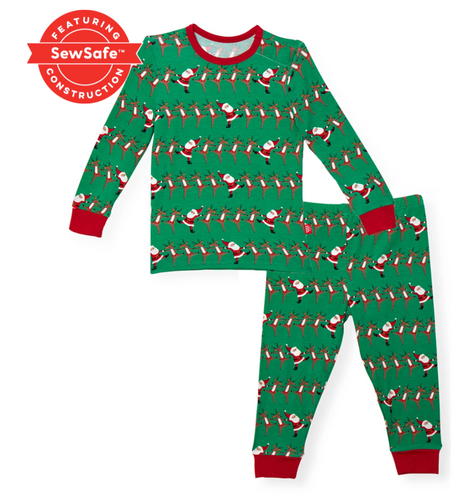 Magnetic Me Holly Folly Jolly Modal Magnetic 2pc Toddler Pajama Set