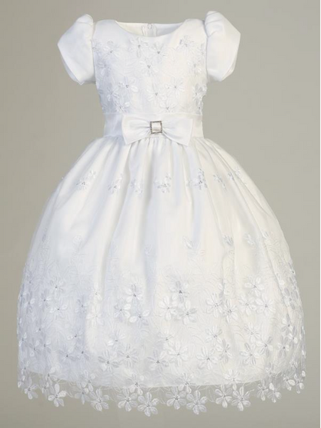 Lito Children's Wear Embroidered Organza Communion Dress-Precious+Posh