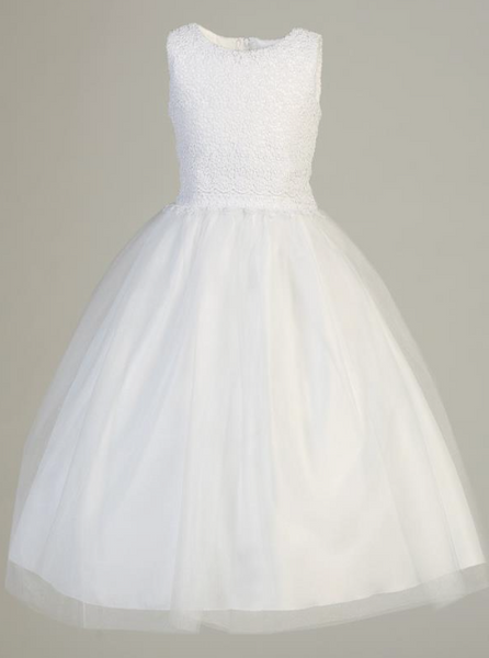Lito Children's Lace & Tulle Communion Dress- Precious+Posh
