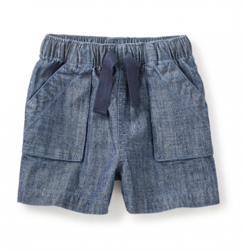 Chambray Short 'N' Sweet Pull On Shorts - Precious + Posh