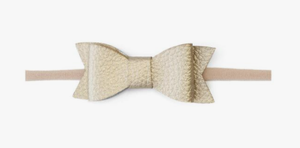Baby Bling Leather Tie Skinny Bow