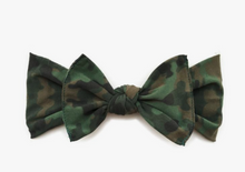 Load image into Gallery viewer, Baby Bling Printed Knot Bow - Precious + Posh
