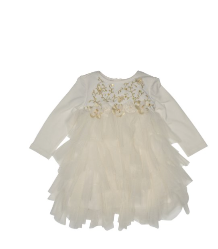 Biscottie- Kate Mack Ivory Modern Maiden Dress -Precious +Posh