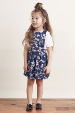 Lil' Lemons Juniper Floral Overall Dress - Precious + Posh