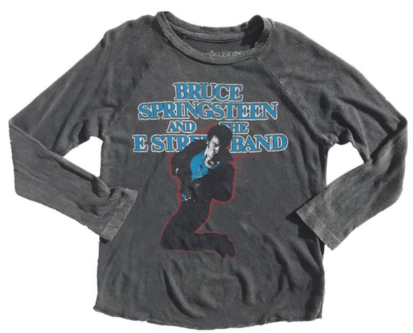 Bruce Springsteen Distressed Raglan Tee - Precious + Posh