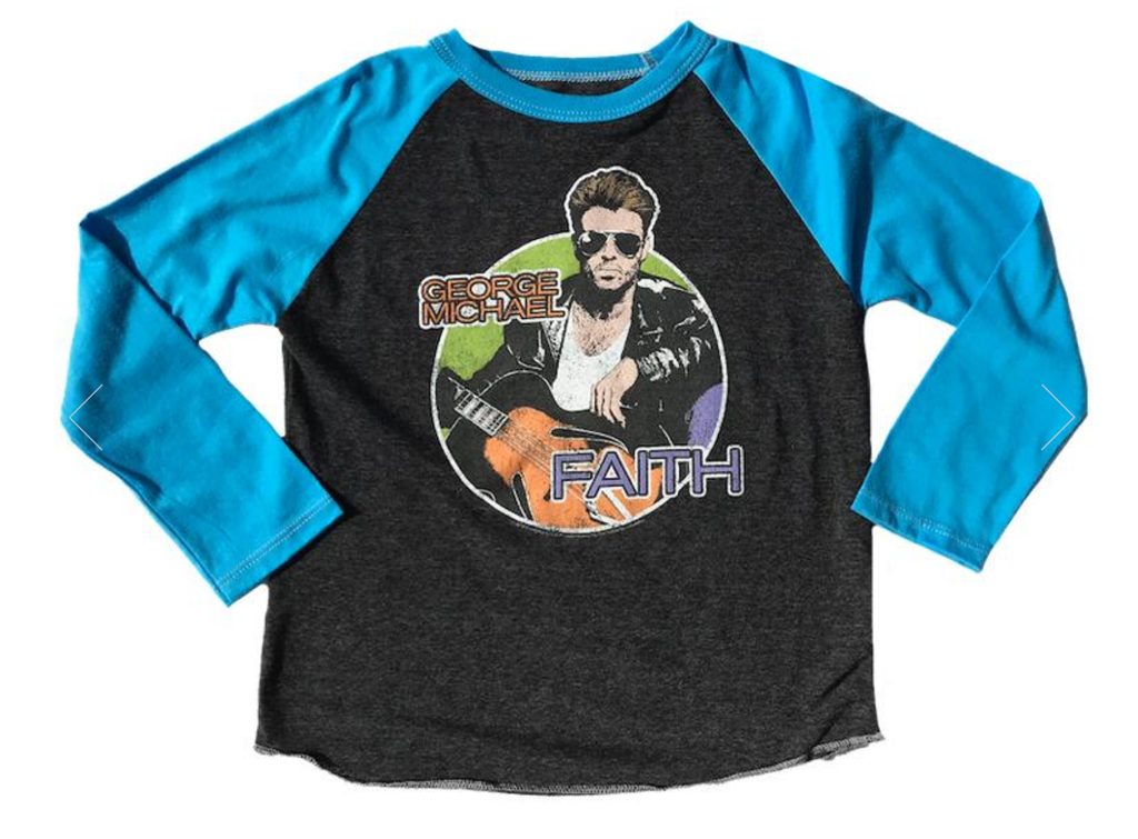 George Michael Long Sleeve Raglan Tee