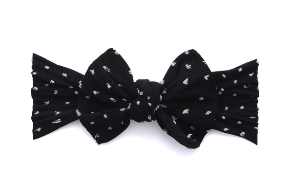 Baby Bling Printed Knot Bow - Precious + Posh