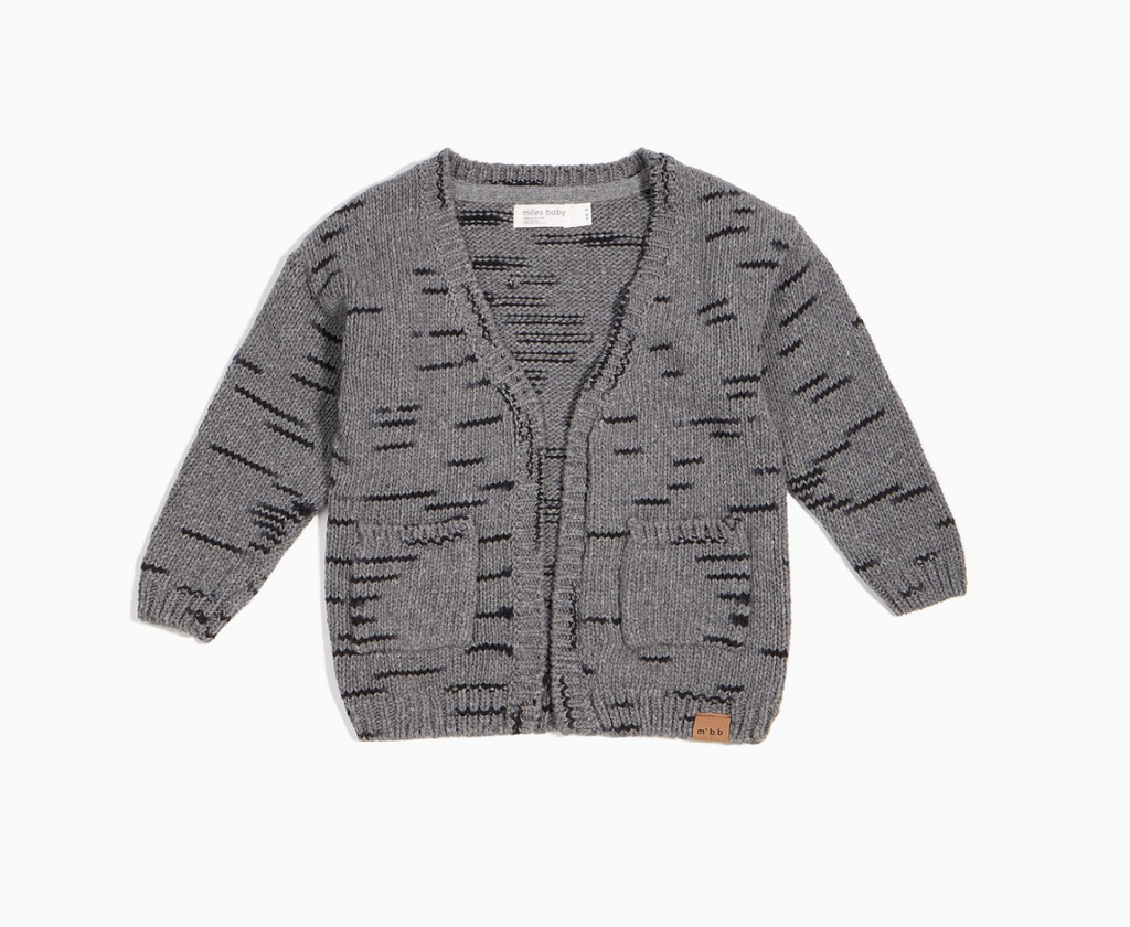 Miles Baby Heather Grey Cardigan