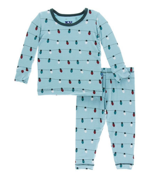 Kickee Holiday Long Sleeve Pajama Set
