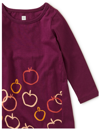Tea Collection Golden Apples Graphic Baby Dress