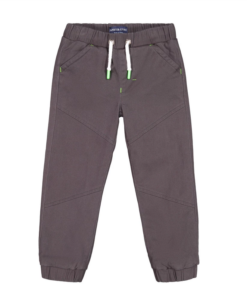 Andy & Evan Charcoal Suiting Jogger