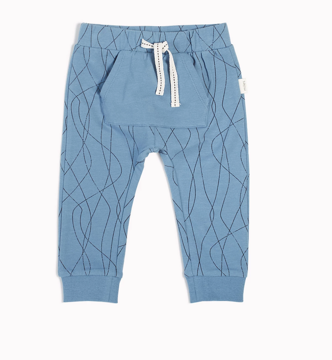 Miles Baby Alpine Club Jogger in Dusty Blue
