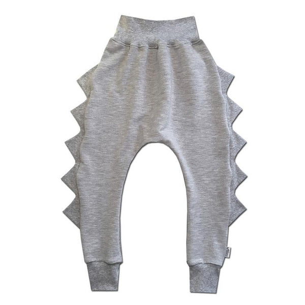 The Mini Classy, Grey Dino Pants - Precious + Posh