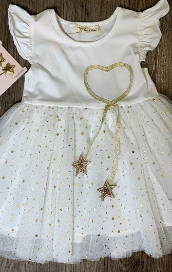 Doe a Dear Jersey Flutter Sleeve Star Dress