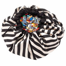 Load image into Gallery viewer, Toy Storage Bag Stripes Black & White