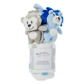 Necessities by Tendertyme Stroller Toy with Blanket Blue