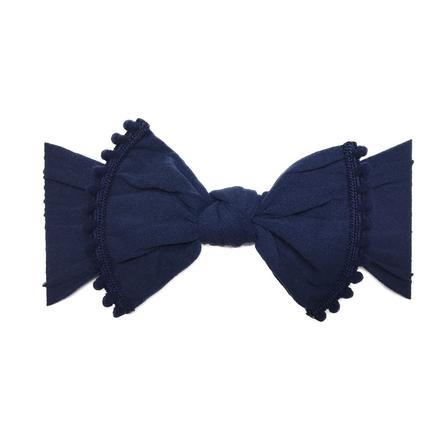 Baby Bling Trimmed Classic Knot Bow - Precious + Posh
