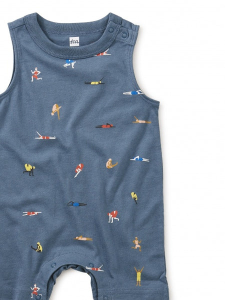 Tea Collection Tank Romper Olympians Blue