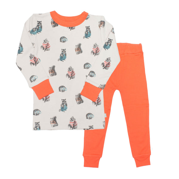 Finn + Emma Two Piece Pajama Set Woodland Print - Precious + Posh
