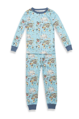 Pajamas For Peace Pants Set Wordly Animals