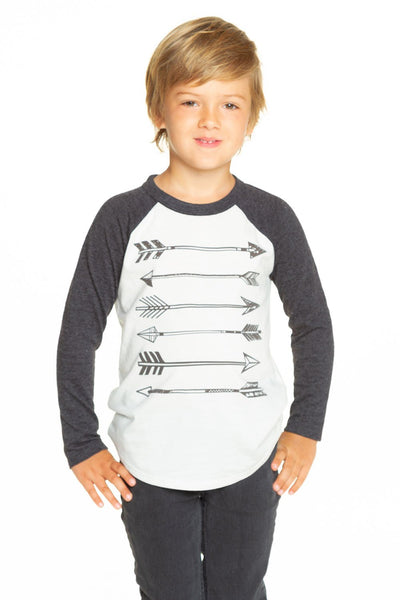 Chaser Arrows Raglan Blocked Baseball Tee
